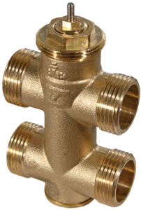 3-way unit valve, PN 16 (el.)