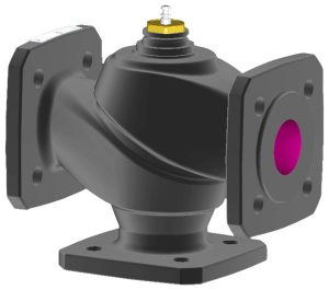 3-way flanged valve, PN 16/10 (el.)